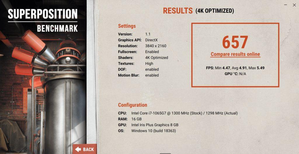 XPS 13 9300 super position 1080p ultra