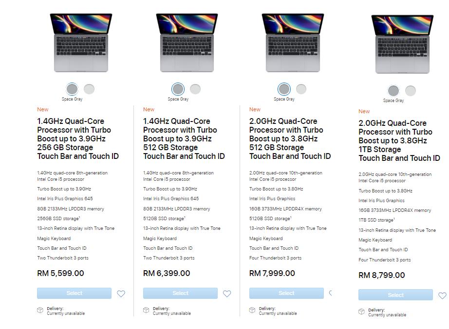 13-inch MacBook Pro prices