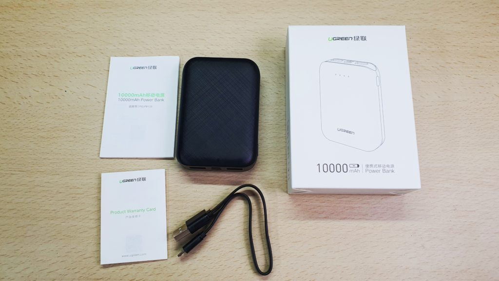 UGreen PB133 Power Bank review contents