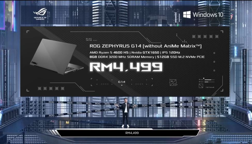 Asus ROG Zephyrus G14 price 1 entry level