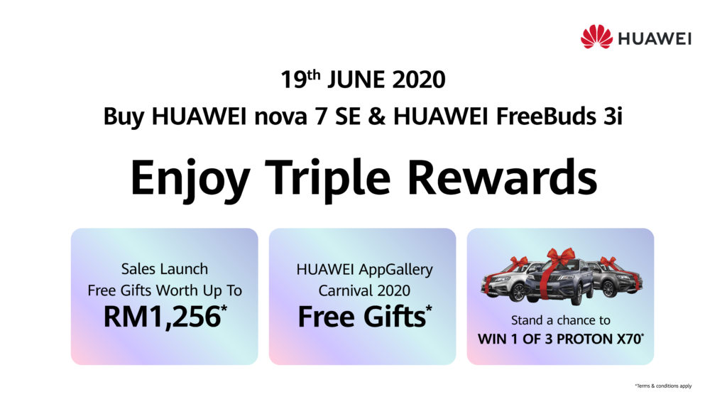huawei nova 7 SE rewards