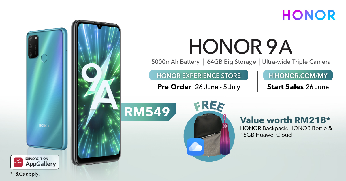 honor 9a price