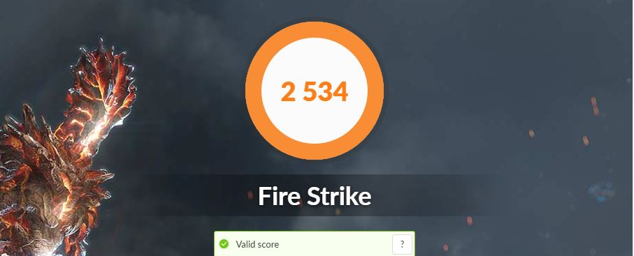 ASUS VivoBook S15 S533FA fire strike