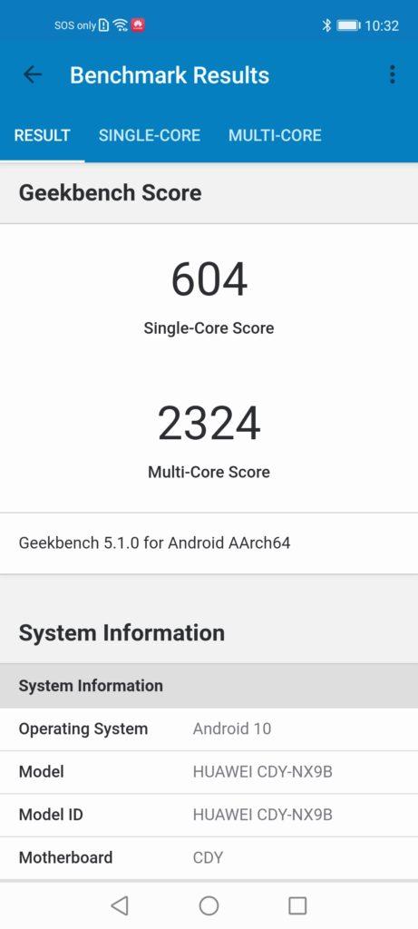 Huawei nova 7 SE Review geekbench