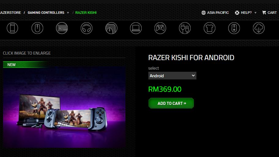 Razer Kishi price