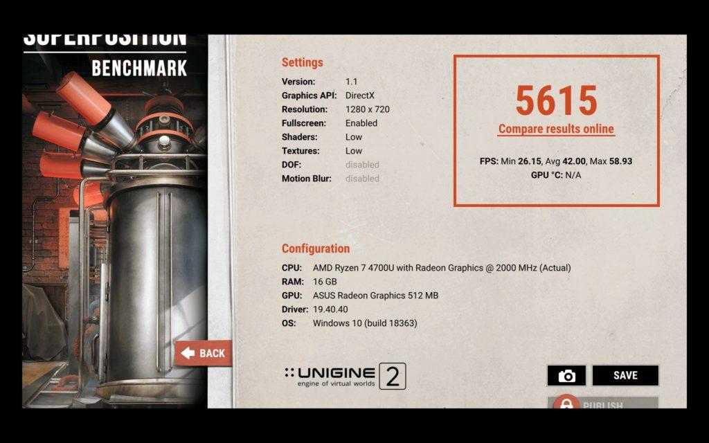 vivobook s14 m433 unigine superposition low