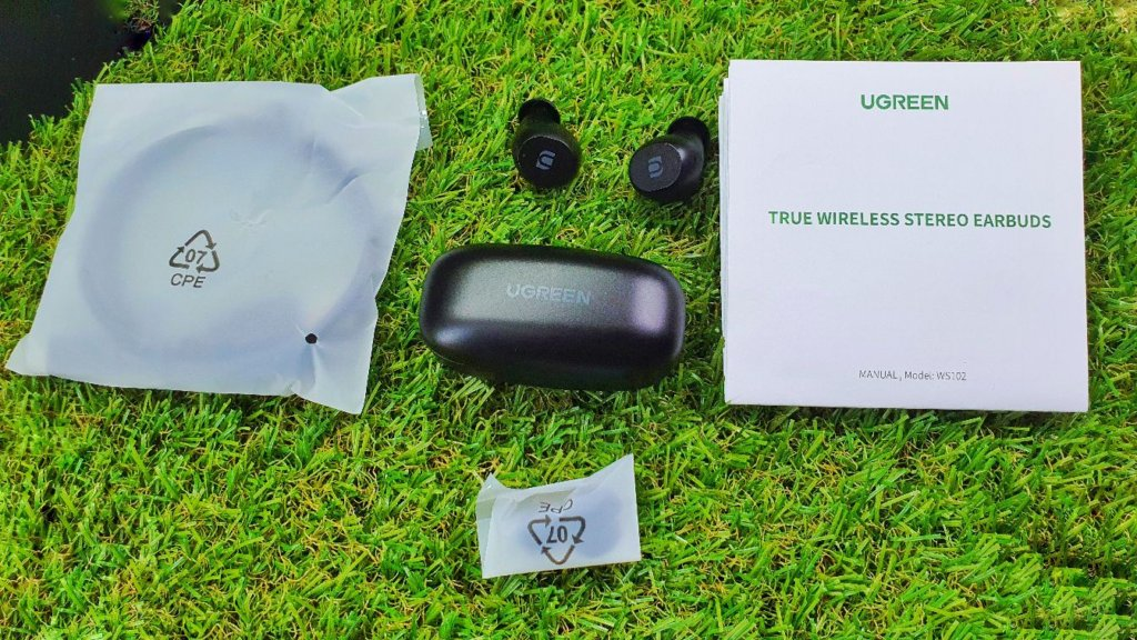 UGREEN WS102 True Wireless Stereo Earbuds Review box contents