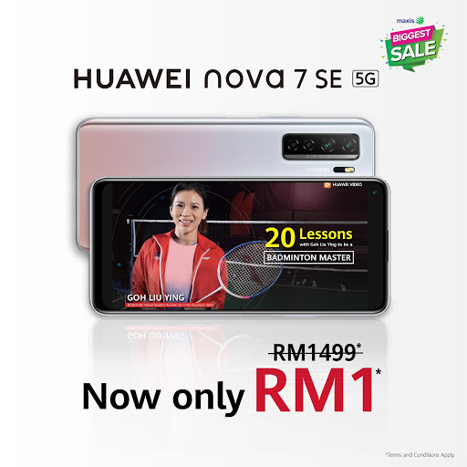Get the Huawei nova 7 SE for an insane RM1 and learn new skills ...