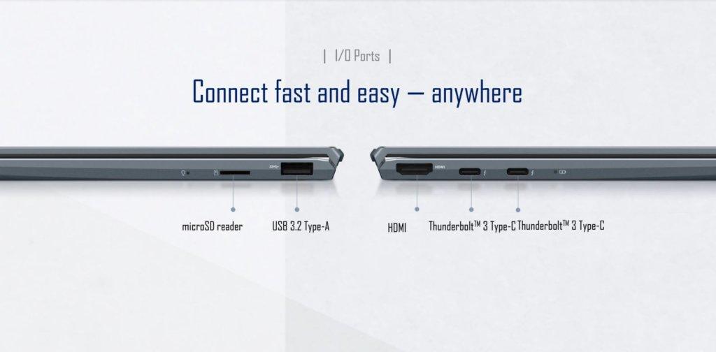 zenbook 13 ux325 ports