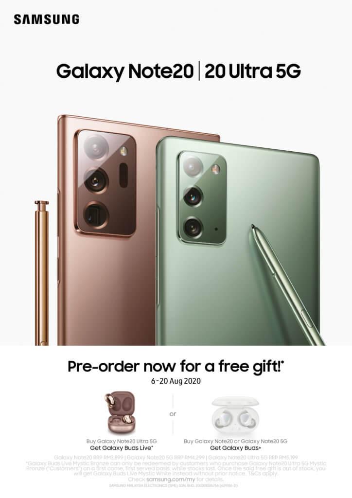 Galaxy Note20 preorders
