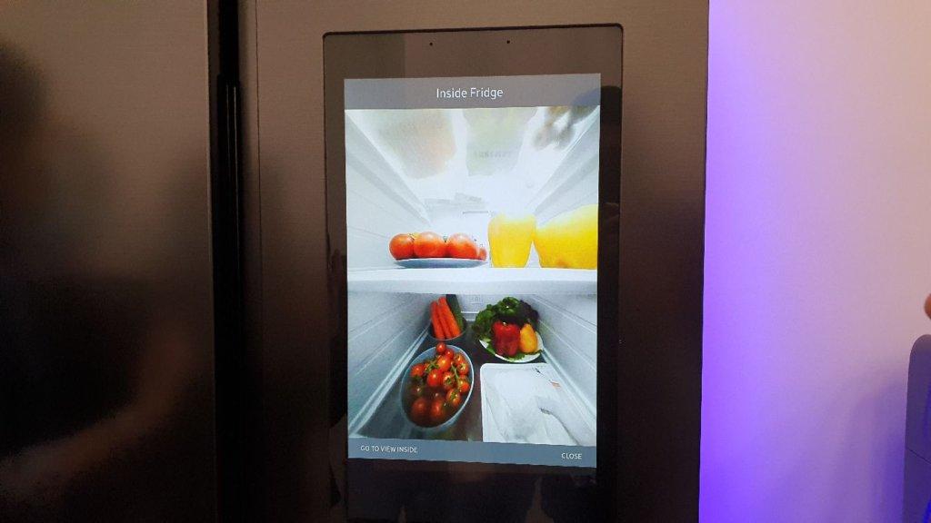 Samsung family hub fridge inside