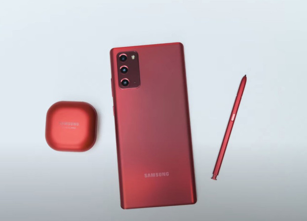 Galaxy Note 20 mystic red shared