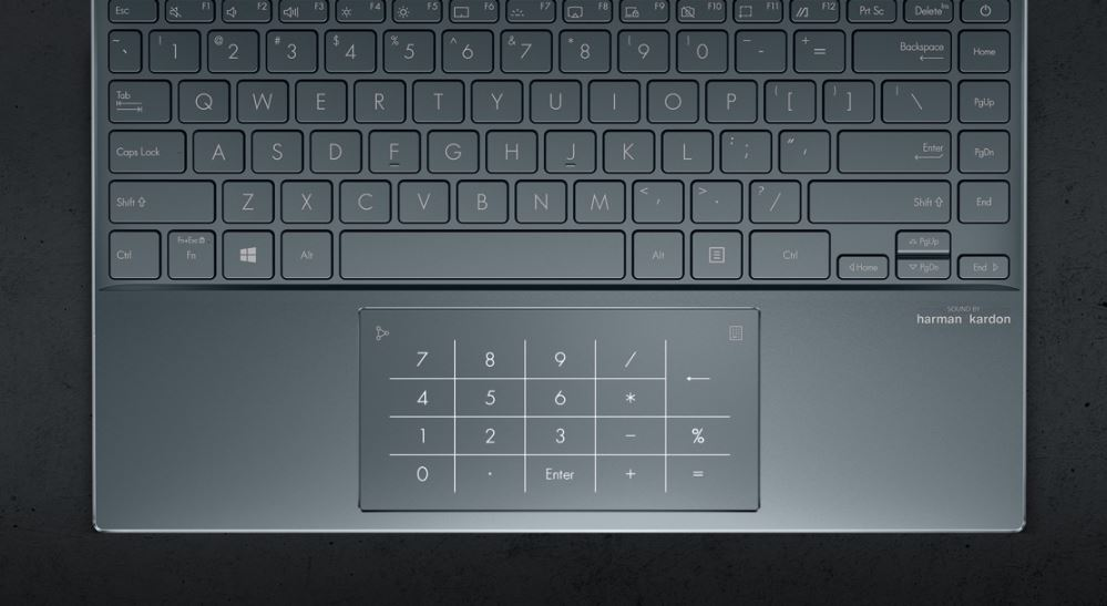 asus zenbook 13 ux325 keypad