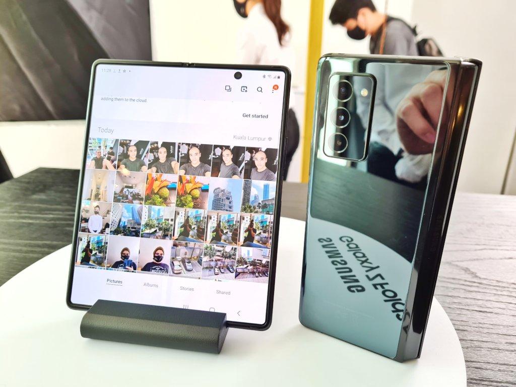 Samsung Galaxy Z Fold2 angled