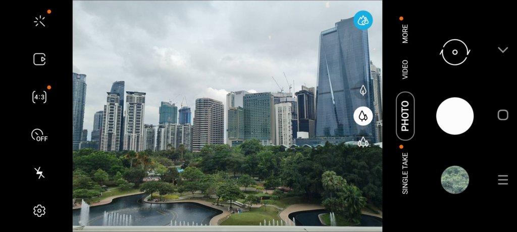 Samsung Galaxy Note20 5G Review camera UI