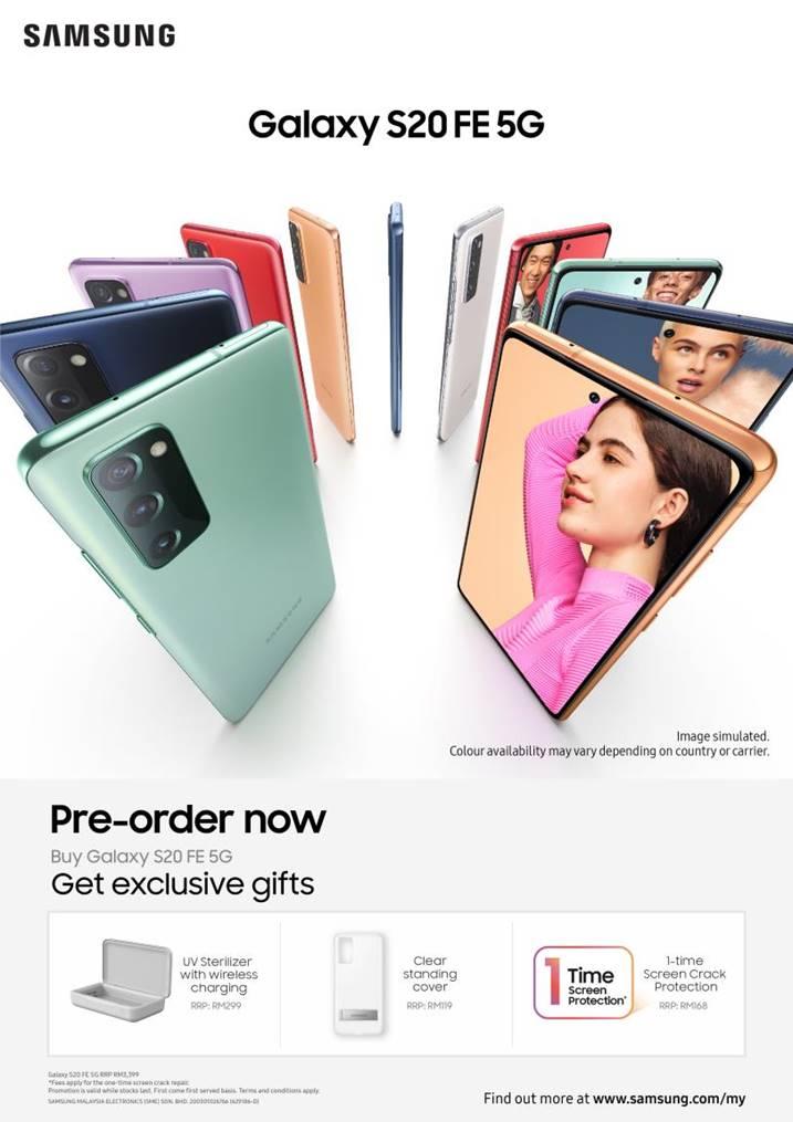 Samsung Galaxy S20 FE 5G preorder malaysia