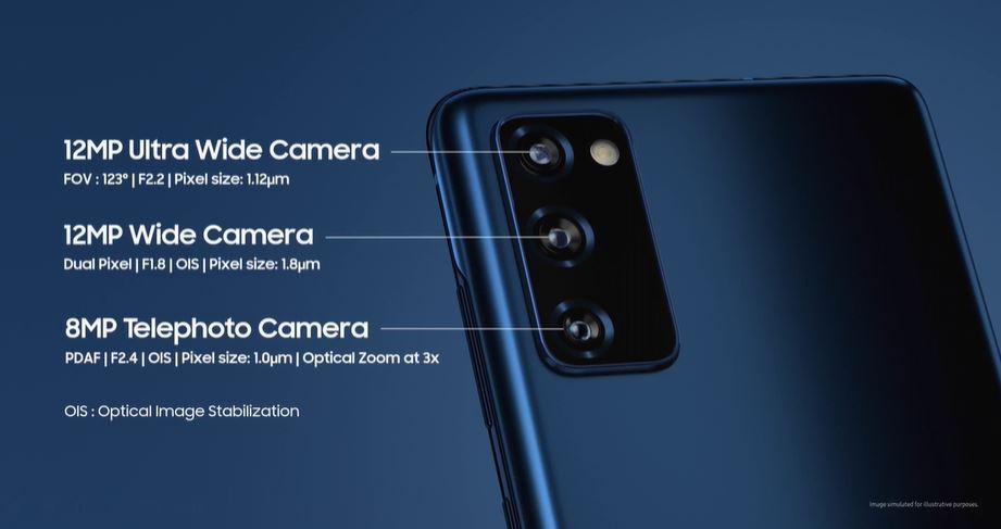 Samsung Galaxy S20 FE 5G cameras