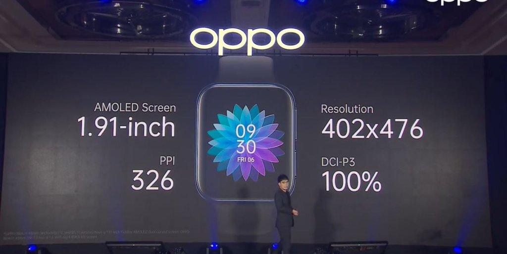 OPPO watch sizes