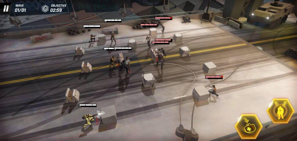 Tom Clancy's Elite Squad firefight