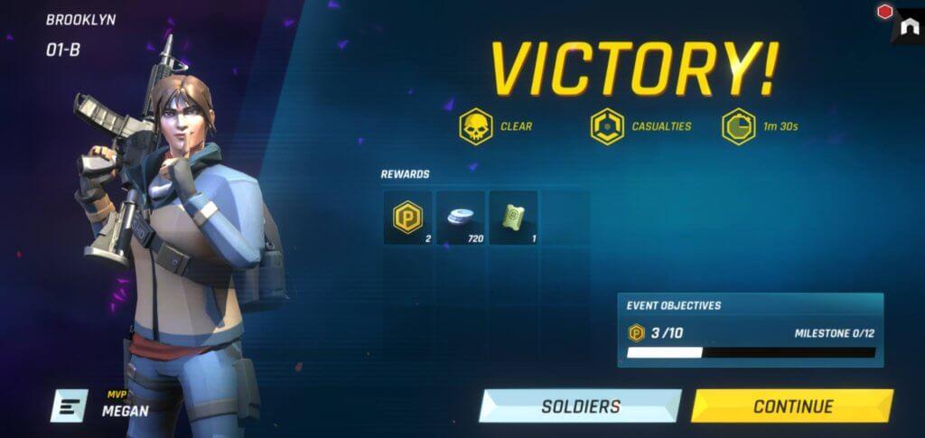 Tom Clancy's Elite Squad victory screen