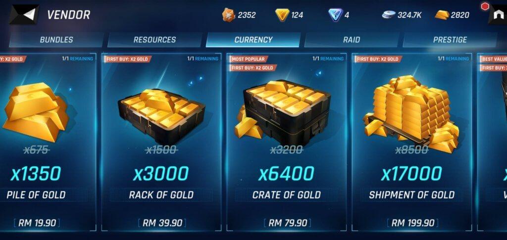 Tom Clancy's Elite Squad gold prices